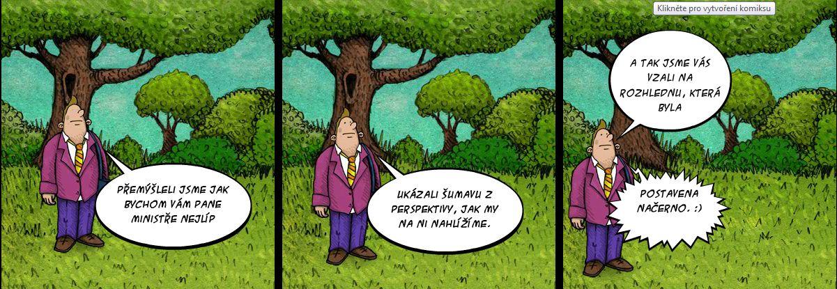 Komiks Šumavský národní park z té správné perspektivy