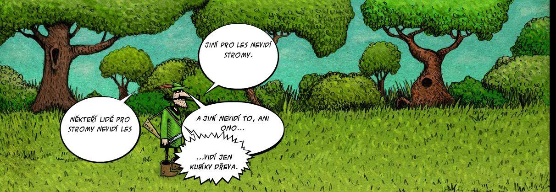 Komiks Nekteří lidé Šumavu nevidí