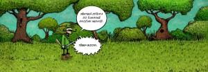 Komiks Bison and rose na Šumavě