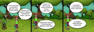 Komiks Účet za bývalého ředitele Parku Šumava Mánka