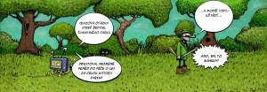 Komiks Modri uz vedi