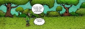 Komiks Špatný zákon o Šumavě naštěstí neprošel, Komárek opět chyběl