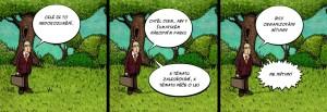 Komiks Trapne nedorozumeni v Narodnim parku Sumava