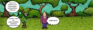 Komiks Odpurkyne bezzasahovosti sefkou informaci strediska