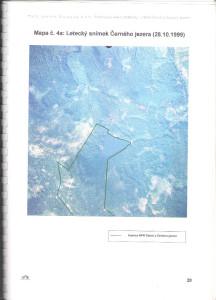 Letecký snímek Černého jezera 1999