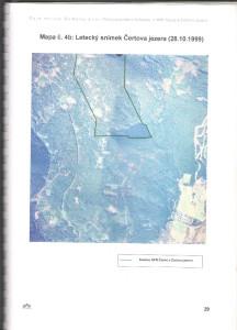 Letecký snímek Čertova jezera 1999