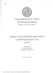Analýza UK Praha,Přírodovědecká fakulta