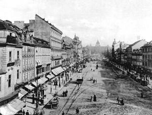 Vaclavske namesti v 19 stoleti